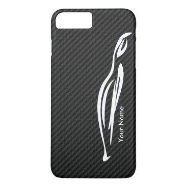 Add your name - Hyundai Genesis Coupe silhouette iPhone 8 Plus/7 Plus Case