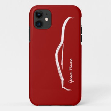 """add your name"" Nissan 370z on Red Background iPhone 11 Case"
