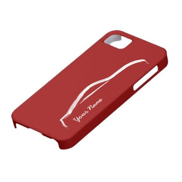 """""""add your name"""" Nissan 370z on Red Background iPhone SE/5/5s Case"""