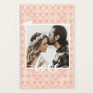 Add Your Own Custom Photo Love Hearts in Rose Gold Planner