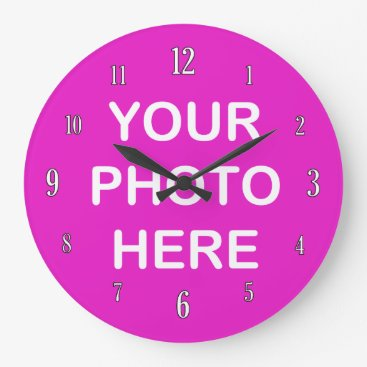 Add your own photo large clock