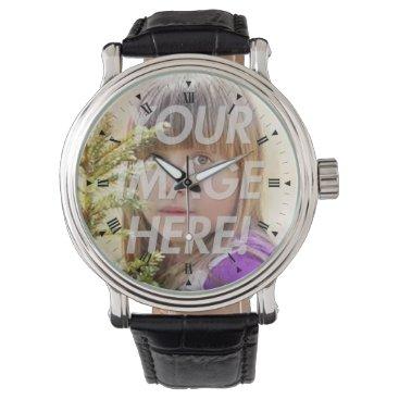 Add your photo wrist watch