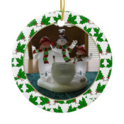 Add Your Picture Holly Keepsake Ornament ornament