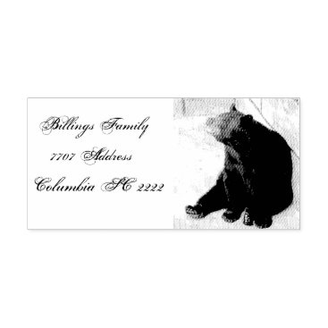 Address Self Ink Rubber Stamp/Bear design Self-inking Stamp