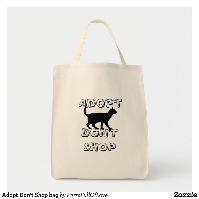 Adopt Don't Shop bag