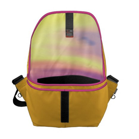 Adrift, Abstract Gold Violet Ocean Courier Bag