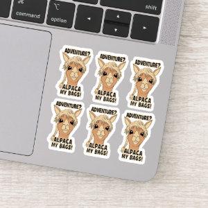 Adventure Alpaca My Bags Set Contour Cut Sticker