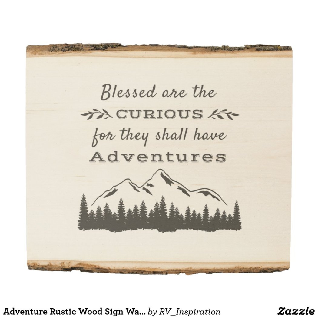 Adventure Rustic Wood Sign Wall Decor