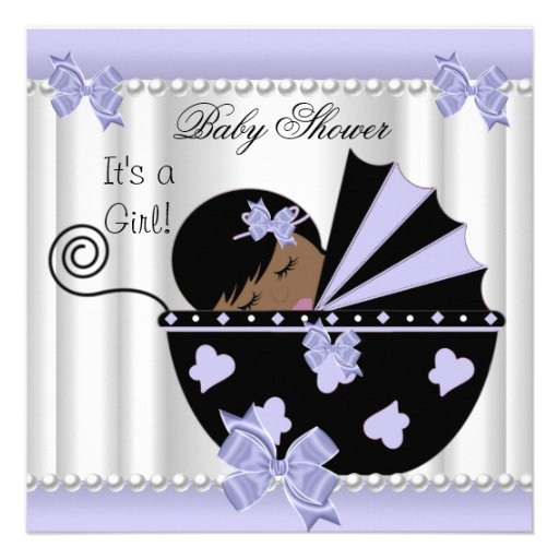 Personalized African American Baby Shower Invitations