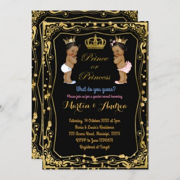 African ethnic Prince or Princess Gender Reveal Invitation