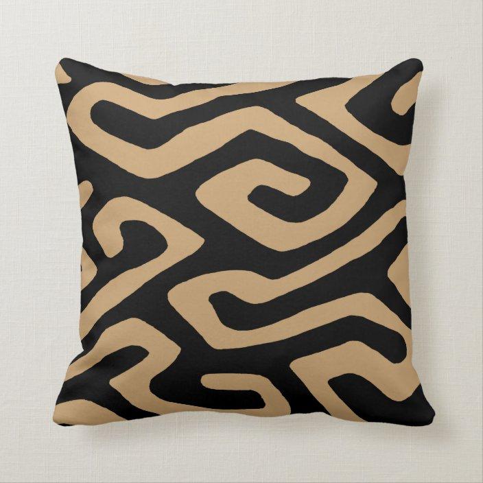 african kuba cloth 3 throw pillow zazzle com