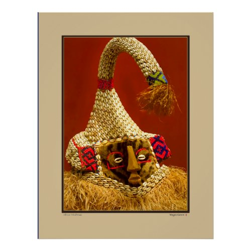 African Tribal Mask - Smithsonian Institute Posters