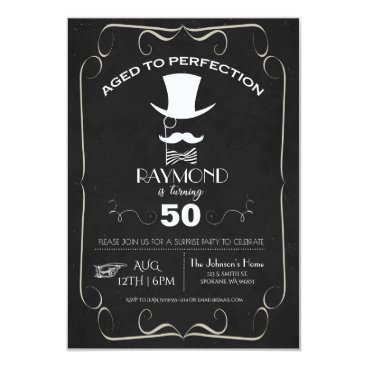 Aged to Perfection Adult Birthday Party Invite