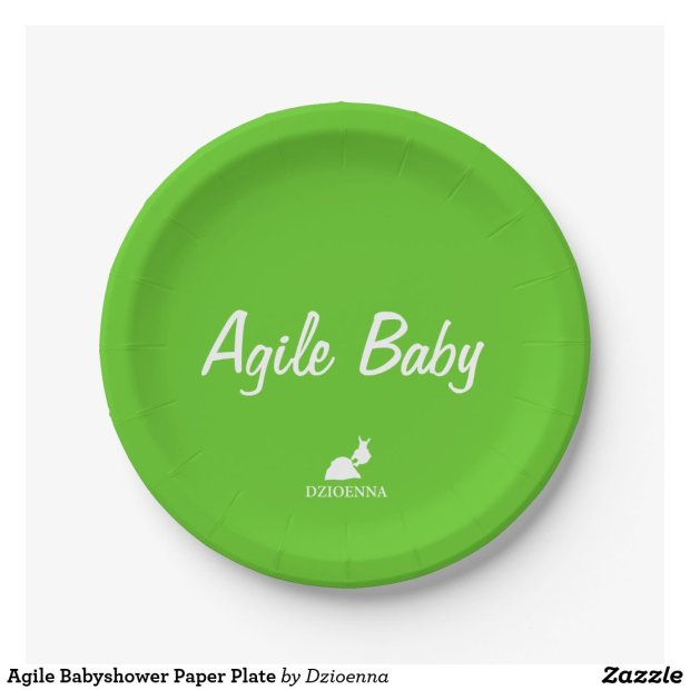 Agile Babyshower Paper Plate