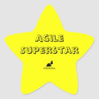 Agile Superstar Stickers
