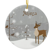Ahimsa Holiday Reindeer Ornaments