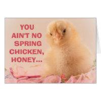 Ain't No Spring Chicken Ladies Milestone Birthday Card