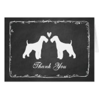 Airedale Terriers Wedding Thank You Card