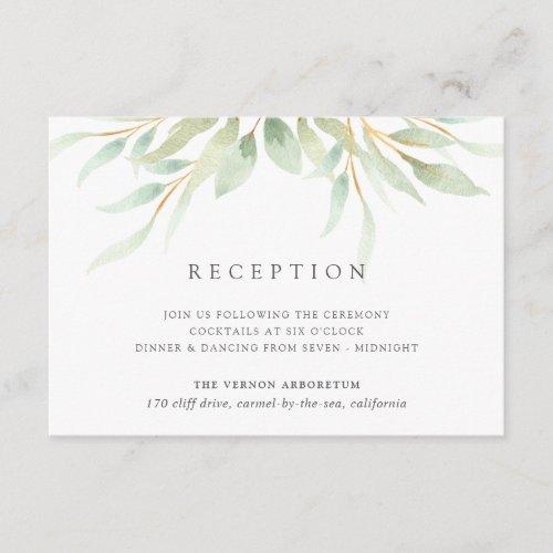 Airy Botanical Reception Card