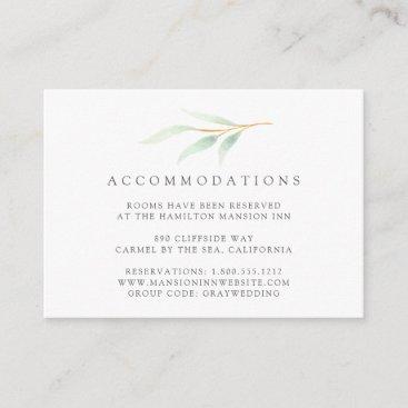 Airy Botanical Wedding Hotel Accommodation Cards
