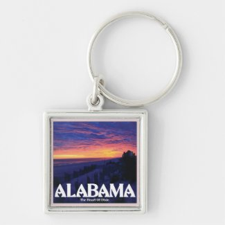 Alabama Dark Sunset Keychain