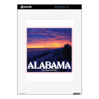 Alabama Dark Sunset Skins For The iPad