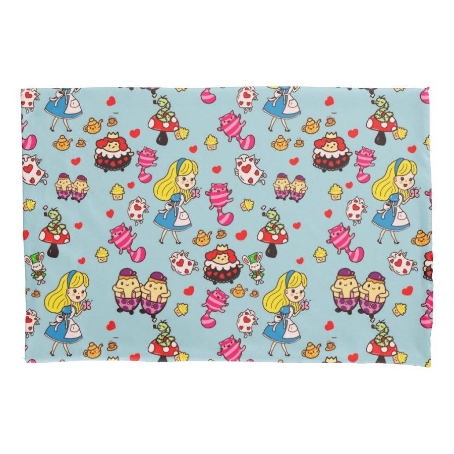 Alice in Wonderland bedding Kawaii doodle art