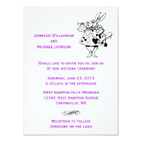 Alice In Wonderland Fairytale Modern Wedding Card