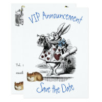 Alice in Wonderland Save the Date Invitation