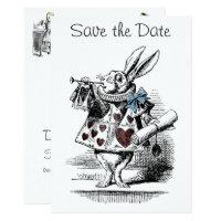 Alice in Wonderland Save the Date Invitation Card