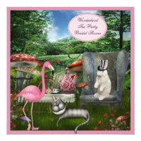 Alice in Wonderland Tea Party Bridal Shower Card