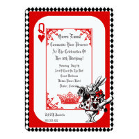 Alice In Wonderland White Rabbit Party Invitation