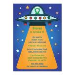 UFO Spaceship Birthday Party Invitations