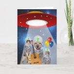 ET Alien Theme Funny Pet Birthday Card