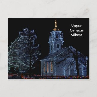 Alight at Night - Upper Canada Village postcard