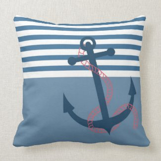 All Hands on Deck! Girly Retro Pillow Cushion