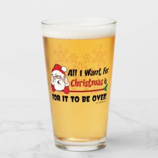 All I want for Christmas Glass