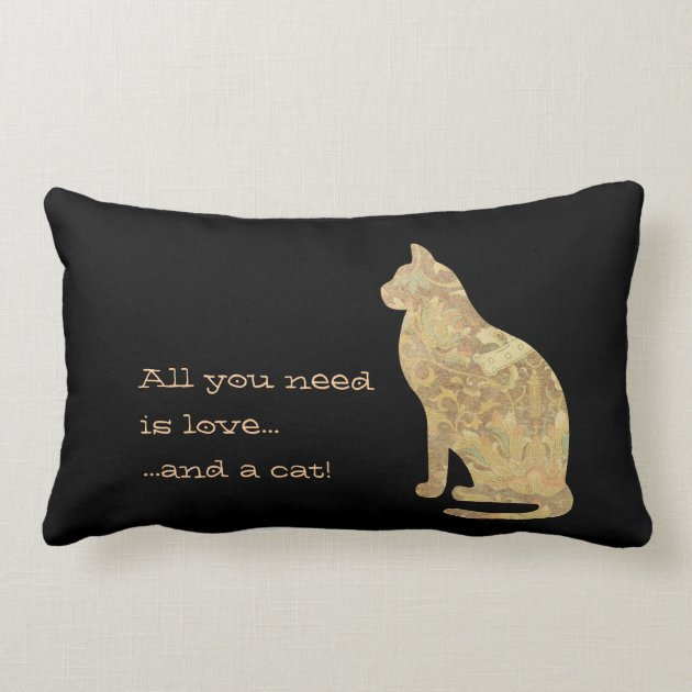 Download All You Need is Love and a Cat Lumbar Pillow | Zazzle