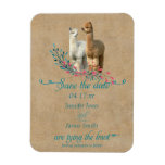 Alpaca Country Save the Date Magnet