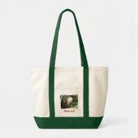 Alpaca Holiday Tote Bag