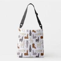 Alpacas Geo Pattern Crossbody Bag