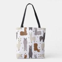 Alpacas Geo Pattern Tote Bag
