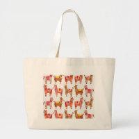 Alpacas Large Tote Bag