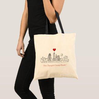 Amanda Uhl Small Tote Bag with Tagline