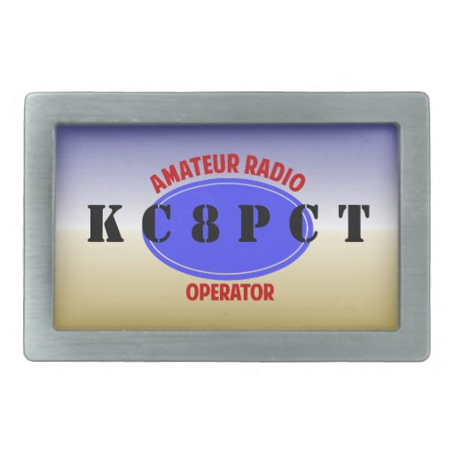 Amateur Radio Operator belt buckle | Zazzle