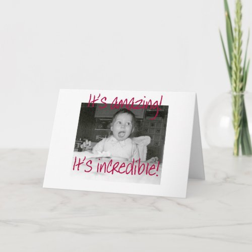Amazed Baby Happy Birthday card