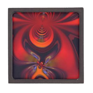 Amber Goddess – Orange and Gold Passion Premium Keepsake Boxes