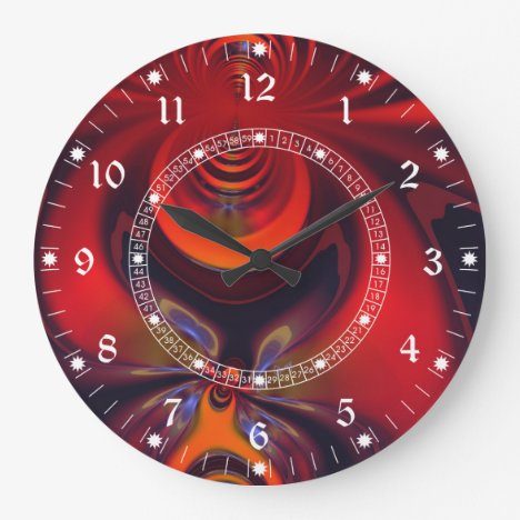 Amber Goddess – Red and Gold Delight Large Clock