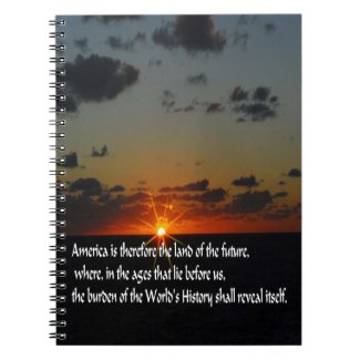 America and the future spiral notebooks
