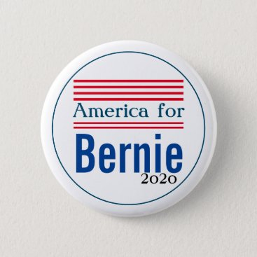 America for Bernie Sanders 2020 Campaign Pin